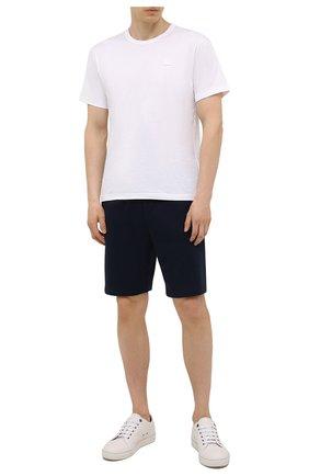Мужские хлопковые шорты RALPH LAUREN темно-синего цвета, арт. 790774628 | Фото 2