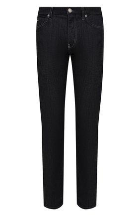 Мужские джинсы EMPORIO ARMANI темно-синего цвета, арт. 8N1J45/1D85Z | Фото 1 (Длина (брюки, джинсы): Стандартные; Материал внешний: Хлопок; Кросс-КТ: Деним; Силуэт М (брюки): Прямые; Стили: Кэжуэл)