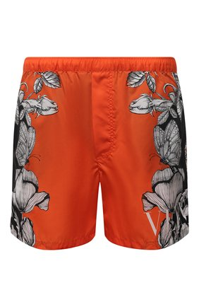 Мужские плавки-шорты VALENTINO оранжевого цвета, арт. WV3UH0287MV | Фото 1 (Материал внешний: Синтетический материал)