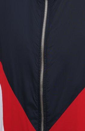 Мужской бомбер BALMAIN разноцветного цвета, арт. WH1TG056/172X   Фото 5 (Кросс-КТ: Куртка; Рукава: Длинные; Материал внешний: Синтетический материал; Принт: С принтом; Стили: Спорт-шик; Материал подклада: Синтетический материал; Длина (верхняя одежда): Короткие)