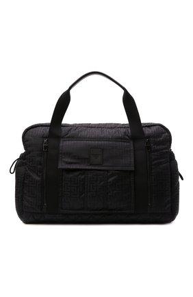 Мужская текстильная дорожная сумка BALMAIN черного цвета, арт. WM1EC153/TNJM | Фото 1