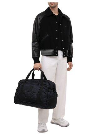 Мужская текстильная дорожная сумка BALMAIN черного цвета, арт. WM1EC153/TNJM | Фото 2