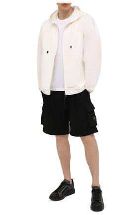 Мужские кожаные кеды ALEXANDER MCQUEEN черного цвета, арт. 662639/WIA4V | Фото 2