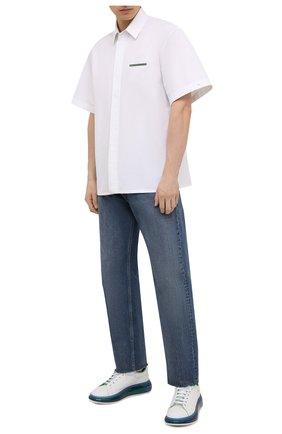 Мужские кожаные кеды ALEXANDER MCQUEEN белого цвета, арт. 662657/WHYBY | Фото 2
