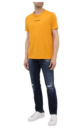 Мужская хлопковая футболка PAUL&SHARK оранжевого цвета, арт. 11311629/C00 | Фото 2