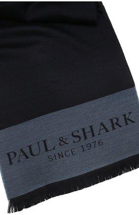 Мужской шерстяной шарф PAUL&SHARK темно-синего цвета, арт. 11317000/FLV | Фото 2