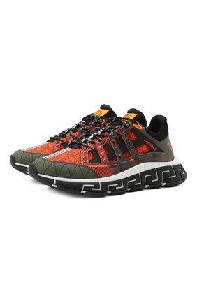 Мужские комбинированные кроссовки trigreca VERSACE красного цвета, арт. DSU8094/D17TCG | Фото 1