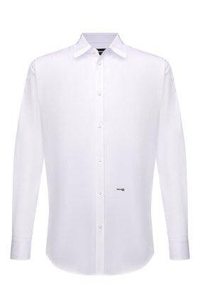 Мужская хлопковая сорочка DSQUARED2 белого цвета, арт. S74DM0542/S36275 | Фото 1