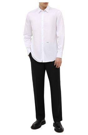 Мужская хлопковая сорочка DSQUARED2 белого цвета, арт. S74DM0542/S36275 | Фото 2