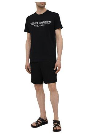 Мужская хлопковая футболка DSQUARED2 черного цвета, арт. S74GD0899/S22844   Фото 2