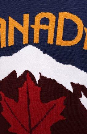 Мужской свитер из шерсти и кашемира DSQUARED2 разноцветного цвета, арт. S74HA1194/S17777 | Фото 5 (Материал внешний: Шерсть; Рукава: Длинные; Длина (для топов): Стандартные)