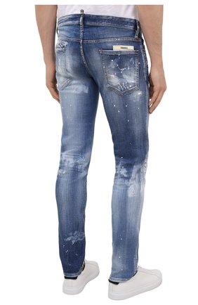 Мужские джинсы DSQUARED2 синего цвета, арт. S74LB0972/S30342   Фото 4 (Силуэт М (брюки): Узкие; Длина (брюки, джинсы): Стандартные; Материал внешний: Хлопок)