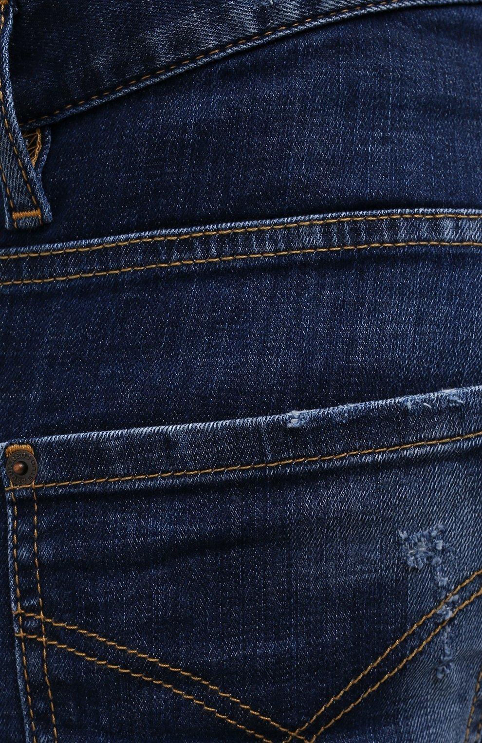 Мужские джинсы DSQUARED2 синего цвета, арт. S74LB1011/S30342 | Фото 5 (Силуэт М (брюки): Узкие; Кросс-КТ: Деним; Длина (брюки, джинсы): Стандартные; Стили: Гранж; Материал внешний: Хлопок; Детали: Потертости)