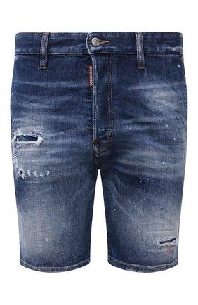 Мужские джинсовые шорты DSQUARED2 синего цвета, арт. S74MU0674/S30663 | Фото 1