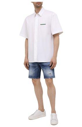 Мужские джинсовые шорты DSQUARED2 синего цвета, арт. S74MU0674/S30663 | Фото 2