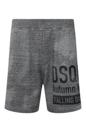 Мужские хлопковые шорты DSQUARED2 серого цвета, арт. S74MU0676/S25477 | Фото 1