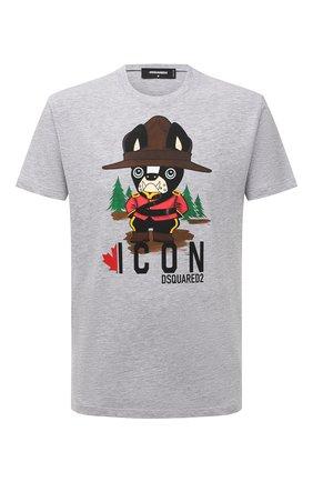 Мужская футболка из хлопка и вискозы DSQUARED2 серого цвета, арт. S79GC0034/S22146 | Фото 1