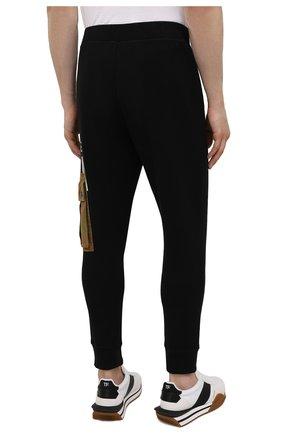 Мужские хлопковые джоггеры DSQUARED2 черного цвета, арт. S79KA0019/S25042 | Фото 4 (Мужское Кросс-КТ: Брюки-трикотаж; Длина (брюки, джинсы): Стандартные; Стили: Гранж, Спорт-шик; Материал внешний: Хлопок; Силуэт М (брюки): Джоггеры)
