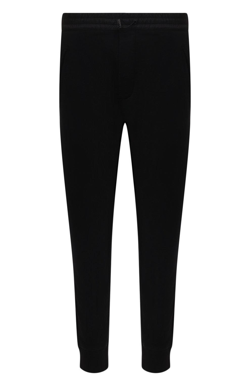Мужские хлопковые джоггеры DSQUARED2 черного цвета, арт. S79KA0020/S25042 | Фото 1 (Мужское Кросс-КТ: Брюки-трикотаж; Длина (брюки, джинсы): Стандартные; Кросс-КТ: Спорт; Материал внешний: Хлопок; Стили: Спорт-шик; Силуэт М (брюки): Джоггеры)