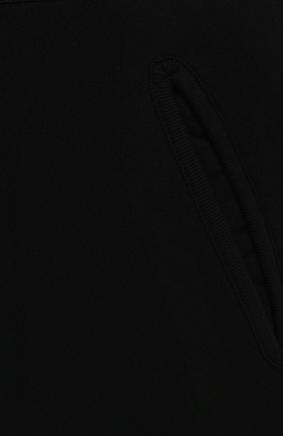Мужские хлопковые джоггеры DSQUARED2 черного цвета, арт. S79KA0020/S25042 | Фото 5 (Мужское Кросс-КТ: Брюки-трикотаж; Длина (брюки, джинсы): Стандартные; Кросс-КТ: Спорт; Материал внешний: Хлопок; Стили: Спорт-шик; Силуэт М (брюки): Джоггеры)