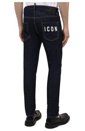 Мужские джинсы DSQUARED2 темно-синего цвета, арт. S79LA0035/S30595   Фото 4 (Силуэт М (брюки): Прямые; Кросс-КТ: Деним; Длина (брюки, джинсы): Стандартные; Стили: Гранж; Материал внешний: Хлопок)