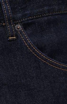 Мужские джинсы DSQUARED2 темно-синего цвета, арт. S79LA0035/S30595   Фото 5 (Силуэт М (брюки): Прямые; Кросс-КТ: Деним; Длина (брюки, джинсы): Стандартные; Стили: Гранж; Материал внешний: Хлопок)