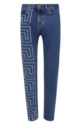 Мужские джинсы VERSACE синего цвета, арт. A86452/1A00592 | Фото 1