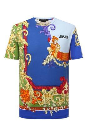 Мужская хлопковая футболка VERSACE разноцветного цвета, арт. A76113/1A01248 | Фото 1 (Материал внешний: Хлопок; Длина (для топов): Стандартные; Рукава: Короткие; Стили: Бохо; Принт: С принтом)