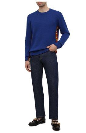 Мужские джинсы VERSACE темно-синего цвета, арт. 1001322/1A00946 | Фото 2