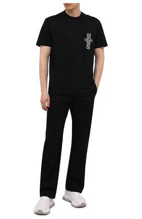 Мужская хлопковая футболка VERSACE черного цвета, арт. 1001289/1A00925   Фото 2