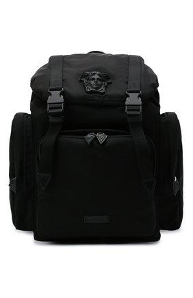 Мужской текстильный рюкзак VERSACE черного цвета, арт. 1000733/DNY8ME | Фото 1