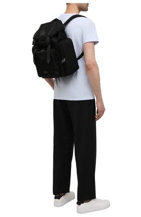 Мужской текстильный рюкзак VERSACE черного цвета, арт. 1000733/DNY8ME | Фото 2