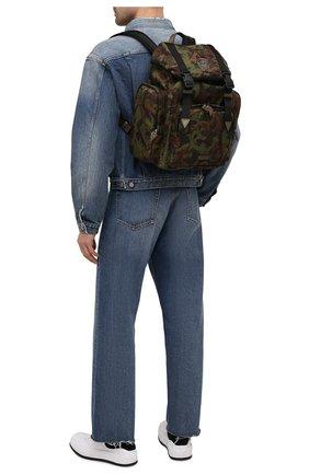 Мужской текстильный рюкзак VERSACE хаки цвета, арт. 1000733/1A00877 | Фото 2