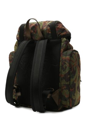Мужской текстильный рюкзак VERSACE хаки цвета, арт. 1000733/1A00877 | Фото 3