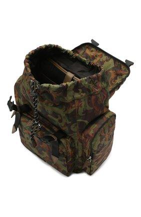 Мужской текстильный рюкзак VERSACE хаки цвета, арт. 1000733/1A00877 | Фото 4