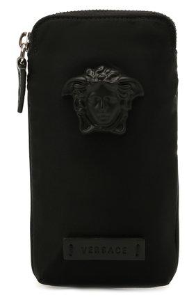 Мужская текстильная сумка VERSACE черного цвета, арт. 1000729/DNY8ME | Фото 1