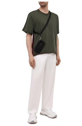 Мужская текстильная сумка VERSACE черного цвета, арт. 1000729/DNY8ME | Фото 2