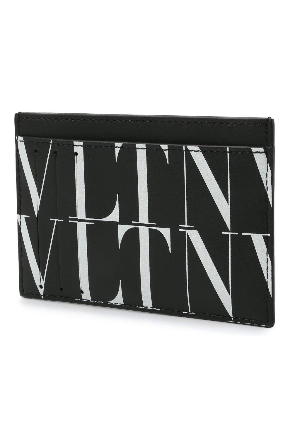 Мужской кожаный футляр для кредитных карт VALENTINO черного цвета, арт. WY2P0S38/GTC   Фото 2