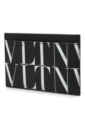 Мужской кожаный футляр для кредитных карт VALENTINO черного цвета, арт. WY2P0S38/GTC | Фото 2