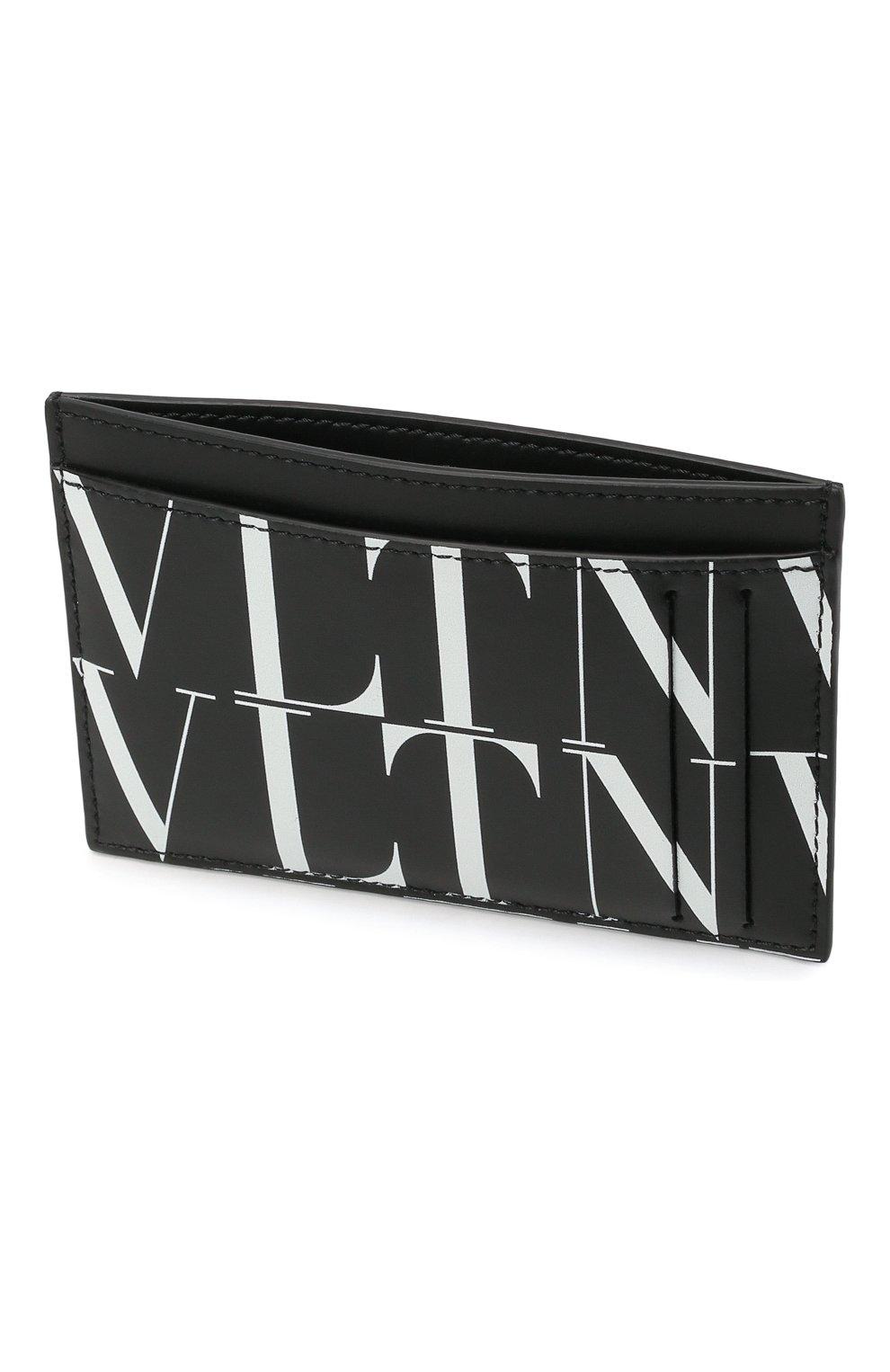 Мужской кожаный футляр для кредитных карт VALENTINO черного цвета, арт. WY2P0S38/GTC   Фото 3
