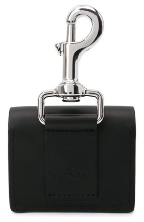 Кожаный чехол для airpods pro VALENTINO черного цвета, арт. WY2P0S18/LVN   Фото 2