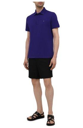 Мужское хлопковое поло VALENTINO фиолетового цвета, арт. WV3MH00V3MN | Фото 2 (Рукава: Короткие; Длина (для топов): Стандартные; Материал внешний: Хлопок; Застежка: Пуговицы; Стили: Кэжуэл)