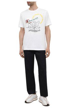 Мужская хлопковая футболка DIESEL белого цвета, арт. A02977/0CATM | Фото 2