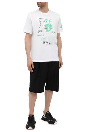 Мужская хлопковая футболка DIESEL белого цвета, арт. A02979/0CATM | Фото 2