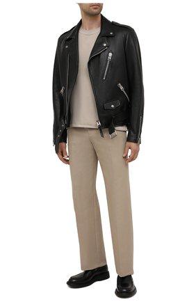 Мужская кожаная куртка TOM FORD черного цвета, арт. BY481/TFL629 | Фото 2 (Длина (верхняя одежда): Короткие; Материал подклада: Синтетический материал, Купро, Шелк; Рукава: Длинные; Мужское Кросс-КТ: Кожа и замша; Кросс-КТ: Куртка; Стили: Гранж)