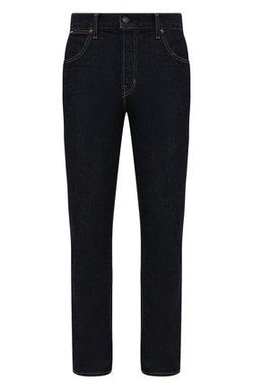 Мужские джинсы TOM FORD темно-синего цвета, арт. BYJ18/TFD017 | Фото 1 (Длина (брюки, джинсы): Стандартные; Материал внешний: Хлопок; Кросс-КТ: Деним; Силуэт М (брюки): Прямые; Стили: Кэжуэл)