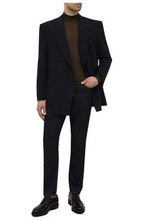 Мужские джинсы TOM FORD темно-синего цвета, арт. BYJ18/TFD017 | Фото 2 (Длина (брюки, джинсы): Стандартные; Материал внешний: Хлопок; Кросс-КТ: Деним; Силуэт М (брюки): Прямые; Стили: Кэжуэл)