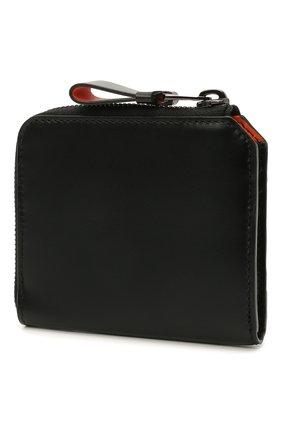 Мужской кожаный кошелек для монет SANTONI черного цвета, арт. UFPPA2123F0-GRT0N01 | Фото 2