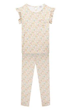 Детская хлопковая пижама BONPOINT разноцветного цвета, арт. S01GNIKN0201(522D)_842473   Фото 1