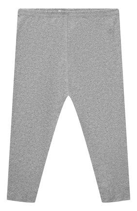 Детские хлопковые леггинсы BONPOINT светло-серого цвета, арт. PEBTI2037CA(092)_850167   Фото 1 (Материал внешний: Хлопок; Ростовка одежда: 12 мес   80 см)